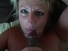 mature wife takes her black lovers cum while hubby tapes