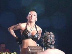 wild fetish show on stage