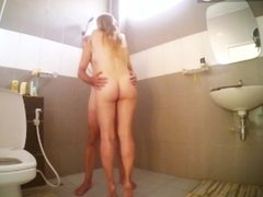 hidden camera in bathroom codefuck strip and get shower with husband part 1