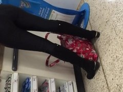 Big Arse Long Legs in a Supermarket
