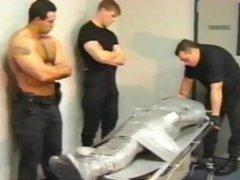 Duct-Tape mummified hunk