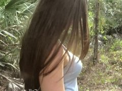 MILF Madisin Lee gets Facial in the Woods