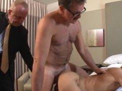 Daddy enjoying fucking his son.