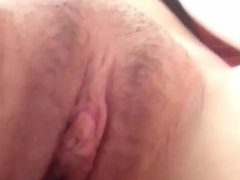 Teen fingering her tight pussy with a brush