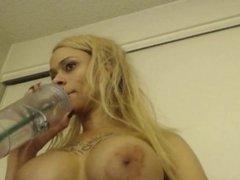 Ebony Got Her Tits Out