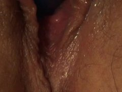 My wife likes buzzing toys in her pink wet pussy