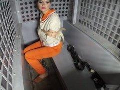 Female Prisoner Strapped in for Transport (She will not return)