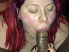 Wife sucking dick while getting fucked