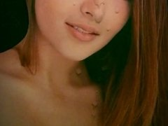 CUM ART - Cum tribute to lovely brown haired girl-JizzLobber Best Tributes