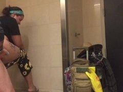 Airport bathroom fuck!