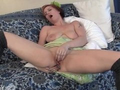 Busty Bianca Plays With A Dildo
