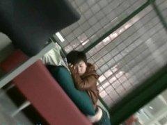 Numafeet - Sleeping Asian Girl Feet in The Library