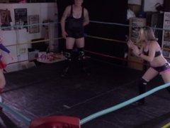 Mixed Wrestling Superheroine Defeated