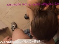 Madisin Lee gets Blackmailed, Fucked, and Facial in Bathroom