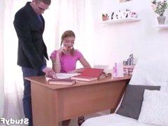 Russian teen uses her ass, not her brains