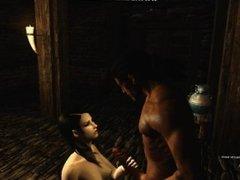 Serena vampire tastes thick cock in cellar