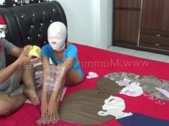 [Mummification.net] This girl's body is folded and wrapped tightly