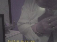 Hidden Cam In Grandma's Bathroom
