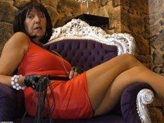 Mature MILF Femdom Nylon Pantyhose JOI Mistress Domina