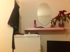 Teen stripping and changing clothes
