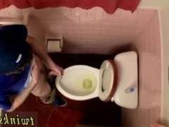 Gay bareback piss drink Unloading In The Toilet Bowl