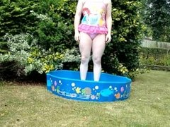 Sissy Little Girl - Outdoor Paddling Pool Humiliation