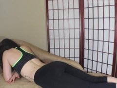 Girl Farting in Yoga Pants