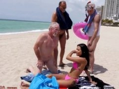 Latina punished and latina wife facial So the old folks are on a beach