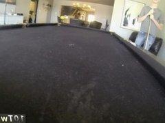 Boy gay fun Pool Cues And Balls At The Ready