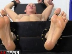 Men who love gay twink boy feet Cristian Tickled In The Tickle Chair