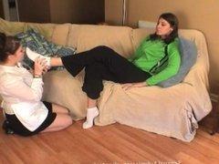 slave girl worship mistress Donatella sexy white ankel socks p2