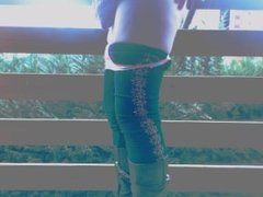 my ass outdoor in balcony