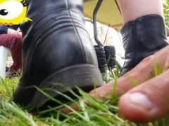 trampling candid unknown crushing 2016 number 41 stomping boots crush hand