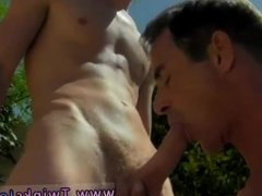 Bubble butt getting fucked while laying down gay Daddy Poolside Prick