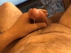 cumshot solw motion big load