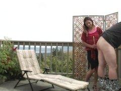 Dominant Wife Denies Sub Husband Cumshot In Outside Homemade Video