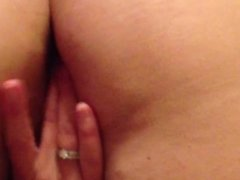 Wife playing with pussy before fucking