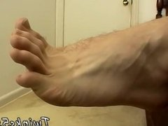 Cute young boys first time fuck gay Hot Cum Splashed Boy Feet