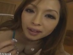 Asian giving a blowjob