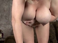 Huge hanging lactating tits in slow motion part 1