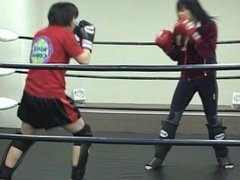 japanese cute girl kickboxing sparring (visit my profile)