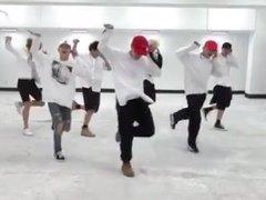 BTS Fire dance practice