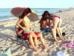 Teen butt webcam and teens love huge cocks Beach Bait And Switch