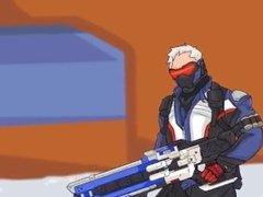 Overwatch Hentai Animation Soldier 76 xxx