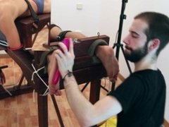 Tickle Interrogation - Tied feet worship.