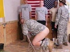 Big real cock undies and clothed gay blowjob Yes Drill Sergeant!