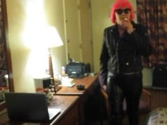 HOT MILF VS 120 HOTEL ROOM SMOKING IN MY SHORT PINK WIG