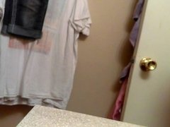 Hidden camera catches my mom naked in bathroom