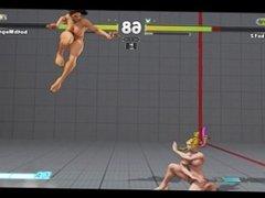 Karin Kanzuki and Laura Matsuda Nude Street Fighter V Nude Mod