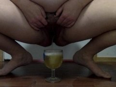 Hot Piss in a Cold Cup! First piss video!